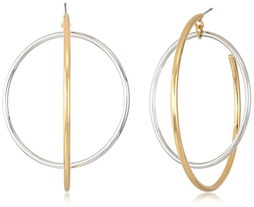 Rebecca Minkoff Mixed Metal Satellite Hoop (Mixed Jewelry)