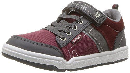 Stride Rite Boys' Made 2 Play Kaleb Sneaker, Oxblood, 2.5 W US Little Kid