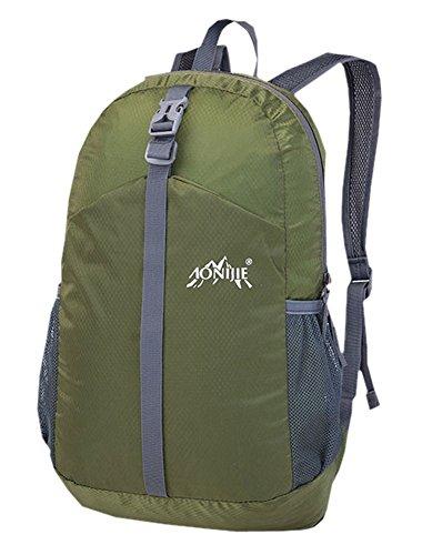 Ultra-Leicht-Spielraum-Rucksack Wasserdicht faltbare Rucksäcke Armee-Grün