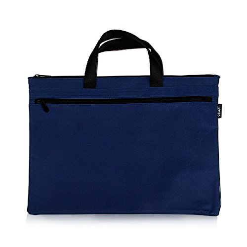 Tanchen Expanding File Pocket Soft Canvas Handle Portfolio Multifunctional Storage Bag (Blue)
