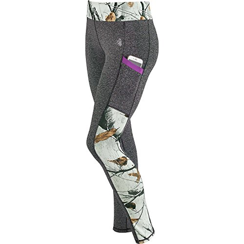 Legendary Whitetails Ladies Driven Performance Leggings Black Heather X-Small