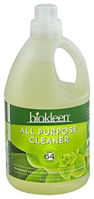 Biokleen All Purpose Cleaner, Super Concentrated, Eco-Friendly, Non-Toxic, Plant-Based, No Artificial Fragrance, Colors or Preservatives, 64 Ounces