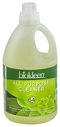- Biokleen All Purpose Cleaner, Super Concentrated, Eco-Friendly, Non-Toxic, Plant-Based, No Artificial Fragrance, Colors or Preservatives, 64 Ounces