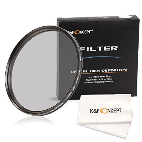 77mm polarizing filter, K&F Concept circular polarizer 77mm Super Slim Multi Coated Glass CPL Filter for Canon Nikon Digital Camera Lens + Microfiber Cleaning - What Polarised Are Lenses