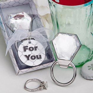<em>Bling Collection</em> diamond ring bottle openers - 24 count