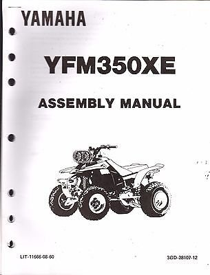 1993 YAMAHA ATV 4 WHEELER YFM350XE ASSEMBLY SERVICE, used for sale  Delivered anywhere in USA