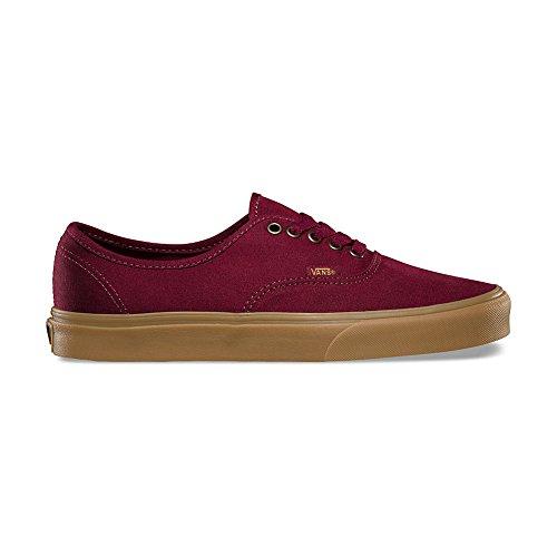 (Vans Men Authentic - Light Gum burgundy port royale gum Size 13.0)