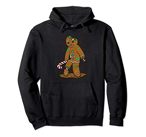 Zombie Gingerbread Man Hoodie Funny Christmas Baking -
