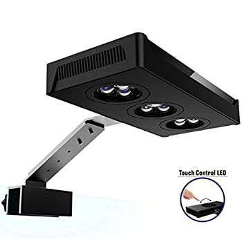 HIPARGERO LED Aquarium Light  Aquarium LED Lights 30W Saltwater Lighting with Touch Control and 3W Cree Chips for Coral Reef Fish Nano Tank New
