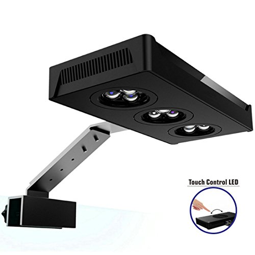 HIPARGERO LED Aquarium Light - Aquarium LED Lights 30W Saltwater Lighting with Touch Control and 3W Cree Chips for Coral Reef Fish Nano Tank