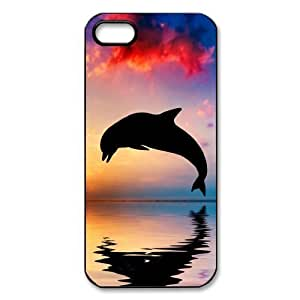 DIY Case Dolphin Ocean Sea Background Hard Plastic iphone 5/5s Case Back Protecter Cover Case (2)