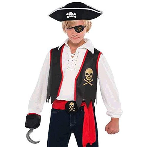 Captain Black Pirate Costume - Amscan Costumes USA Pirates Child Kit