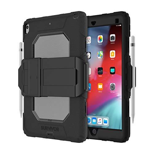 Griffin Survivor All-Terrain (w/Kickstand) for iPad Air (2019) & iPad Pro 10.5, Black/Clear