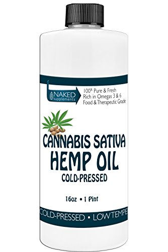Hemp Oil-Cannabis Sativa Oil, 100% Pure_No Fillers or Additives, Therapeutic Grade (16 Ounce)