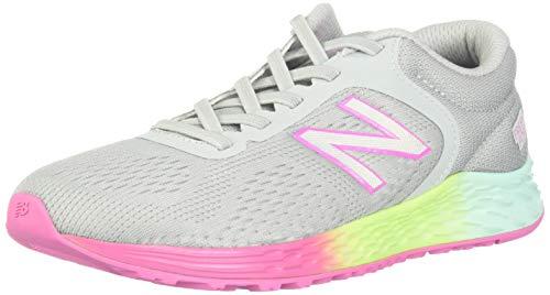 new balance Girls' Arishi V2 Running Shoe,LIGHT ALUMINUM/RAINBOW,1.5 M US Little Kid