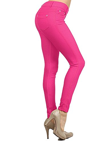 Enimay Women's Colored Jean Look Jeggings Tights Spandex ...
