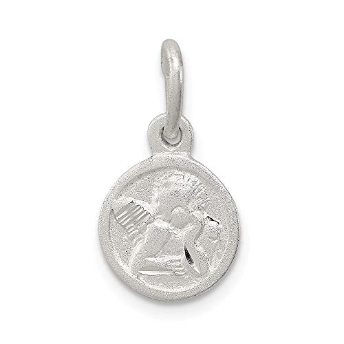 925 Sterling Silver Cherub Disk Pendant Charm Necklace Religious Angel Fine Jewelry Gifts For Women For Her