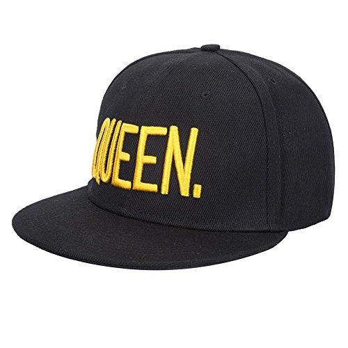 KING and QUEEN Embroidered Hat Lovers Couples Snapback Caps Adjustable Hip-Hop Hats (QUEEN) (Hats Hip Hop Women)