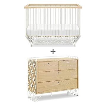 edb767271127 Amazon.com  Ubabub Mod Crib + Dresser Combo in Warm White and Natural  Baby