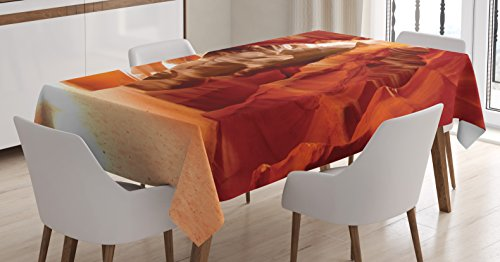Ambesonne Americana Decor Tablecloth, Grand Canyon Cave in Colorado Picture Print, Dining Room Kitchen Rectangular Table Cover, 60 X 90 Inches