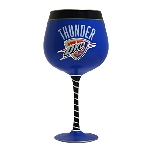 NBA Oklahoma City Thunder Artisan Wine Glass, - Glasses Oklahoma City