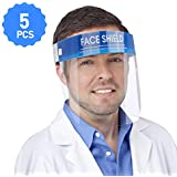 BIBENE Face Shield Protect Eyes and Face with Protective Clear Film Elastic Band and Comfort Sponge (5 Packs)