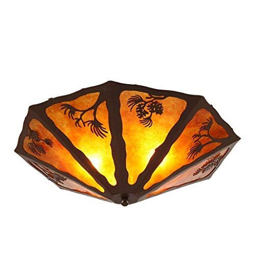Oudan The Industry Retro Creative Ceiling Lamp The Bedrooms Lounge Hallway Irons Pinecone Objects of Decoration Lights (Color: (A) (Color : B)