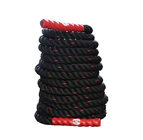 Fitness Answered Training Products Battle Training Ropes, Norisk Satisfaction, Red