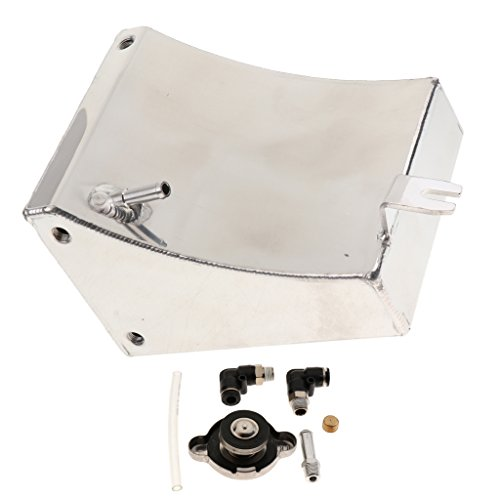 MagiDeal Univerial Car Modified Water Expansion Tank Bevel With Cap Silver SC-OT004 by Unknown (Image #6)