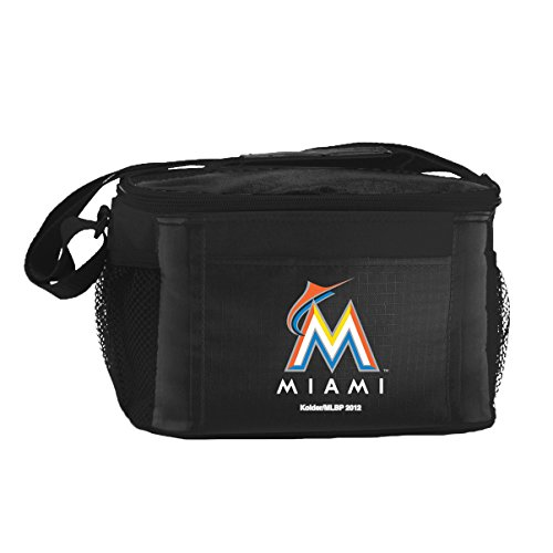 kolder-mlb-miami-marlins-insulated-lunch-cooler-bag-with-zipper-closure-black
