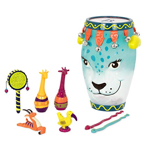 B. Toys - B. Jungle Jam - Toddler Educational & Musical Percussion for Kids & Children Instruments Set 9 Pcs - with Tambourine, Maracas, Slide Whistle & More