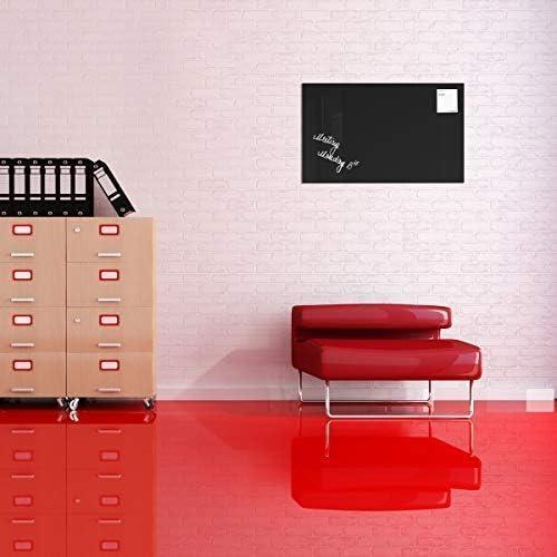 2 magneti colore: Nero Lavagna magnetica in vetro // Lavagnetta 1 pennarello 78 x 48 cm SmartGlassBoard /®