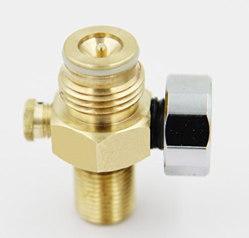Taousa 70237 Paintball CO2 Tank Pin Valve W/2000psi Gauge W/thread Cover 12 Oz Co2 Tank Cover