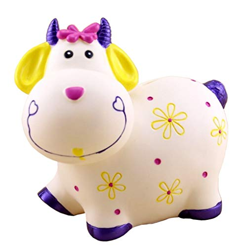 AYUNYUN Large Cartoon Piggy Bank Cow Sheep Coin Savings Pot Children Toy Birthday ()