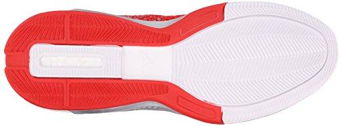 Adidas Man Crazylight Öka 2,5 Låga Basket Skor, Vit / Grå / Livlig Röd, 17 M Oss