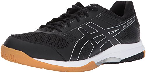 ASICS Mens Gel-Rocket 8 Volleyball Shoe, Black/White, 10.5 M
