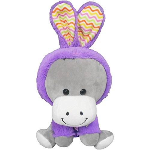 Cute Easter Plush: Donkey Wearing Bunny Costume