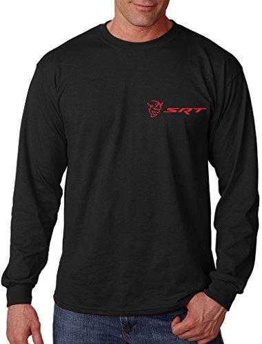 Demon Mens T-shirt (Men's Dodge Challenger Demon SRT Chest Black Long Sleeve T-Shirt Medium Black)
