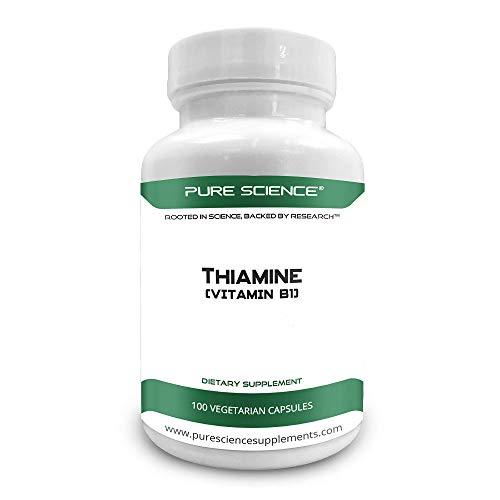 Pure Science Vitamin B1 Thiamine 100mg,5mg BioPerine – 100 Veg Caps