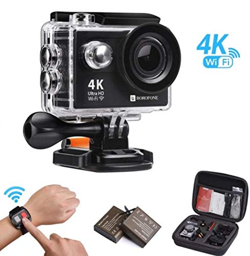 Action Camera, 4K WiFi Ultra HD Video Camera Waterproof DV Recorder 12MP Diving Camera