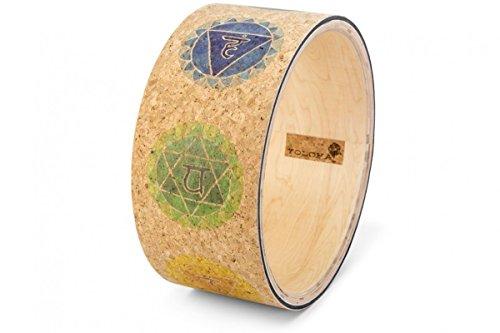 Yoloha Cork Premium Chakras Yoga Wheel, Strong, Non Slip, Sustainable, Soft, Durable, Foam, Premium, Handmade, Moisture Resistant – Yoga Wheel Guide - Foam Roller Eco