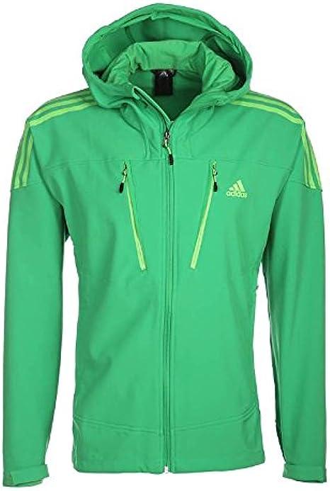 Adidas Herren TS SOFTSHELL KAPUZEN Leichte Jacke – Grün