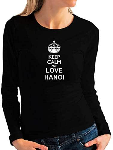 Idakoos Keep Calm and Love Hanoi Women Long Sleeve T-Shirt