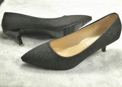 3 matrimonio tacco nero accompagnato banchetto scarpe scarpe argento matrimonio con cm 34 sposa di alta Madre fine Punta scarpe nero singola n8vxHqxg
