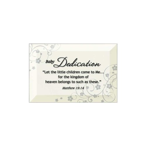 Beveled Glass Plaque (Baby Dedication Beveled Glass Plaque with Easel)