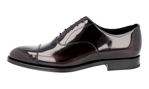 Prada Men's 2EB129 055 F0397 Brushed Spazzolato Leather Business Shoes IKtNCOhak