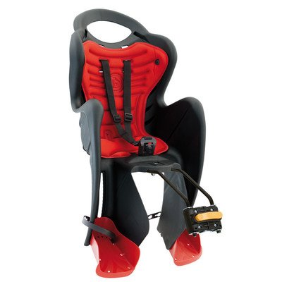 MammaCangura Mr Fox Standard - Rear Bike Child Seat - Italian Made with Certified Safety Standards (Black) by MammaCangura