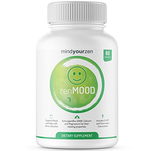zenMOOD ? Natural Anxiety Relief, Stress Reducer, and Mood Support Supplement | Made with Ashwagandha, GABA, 5-HTP & More | Boost Mood and Support Emotional Well-Being (60 Veggie Capsules)