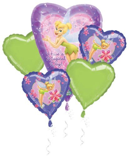 Image Unavailable Not Available For Color Disney Princess Tinkerbell Birthday Party Decoration Balloon Bouquet