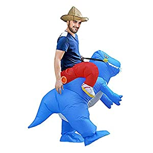 Inflatable Dinosaur Rider Costume,Inflatable Costumes for Adults Or Child,Blow Up Costume,Halloween Costume
